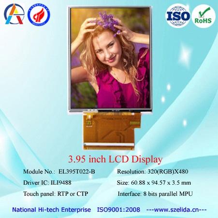 "OEM top quality 3.95""/4 "" TFT lcd module display 320x480"