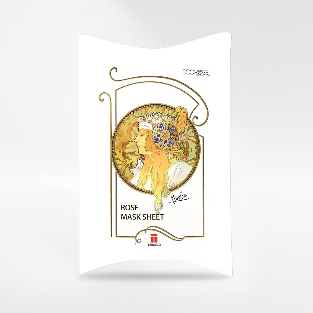 Rose Mask Sheet with Mucha art