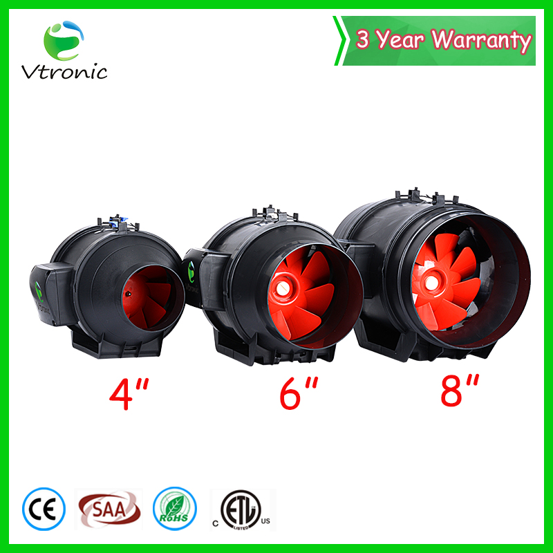 Portable install inline duct ventilation fans