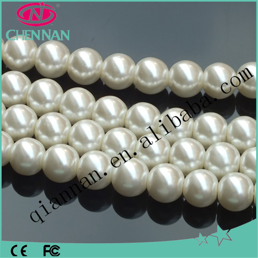 china pujiang supplier best selling 4-20mm coloury crystal glass pearl beads for jewelry making
