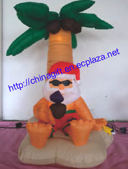 1.8 Meter Christmas Inflatable Santa Tropical Palm Tree