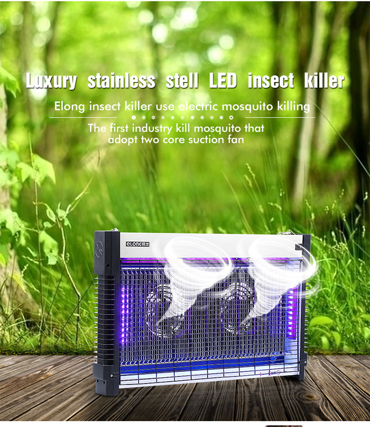 Eo friendly electricity UV LED double sucking fan mosquito killer, insect killer