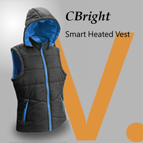 [CBright] 5Volt Battery Travel Smart Heated Vest With Control Botton