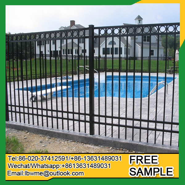 Powder coated steel fence garden fence wrought iron fencing