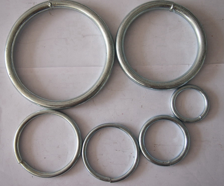 Galvanized or stainless steel welded connecting O shape ring round ring link