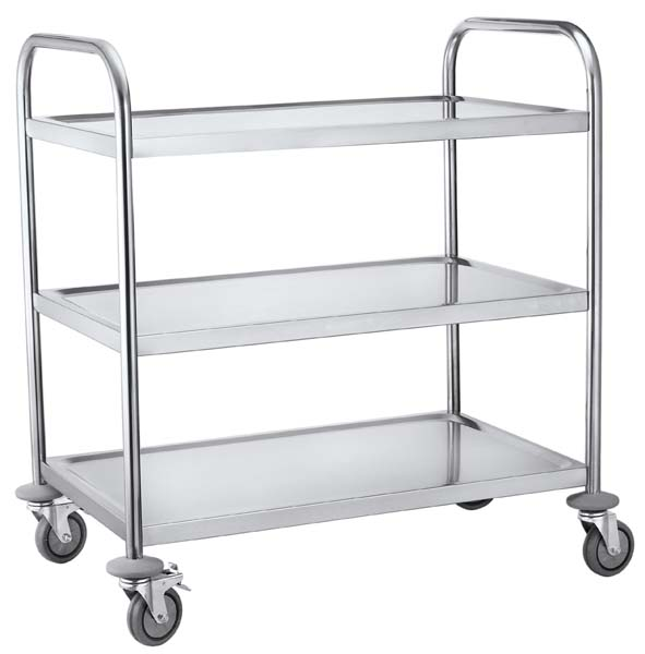 3 Tier Round Tube Serving Trolley,CARTS AND TROLLEYS, DINNING CART