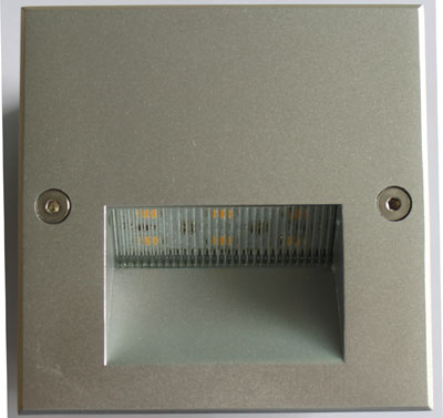 3W Square LED Recessed Wall Light (B202)
