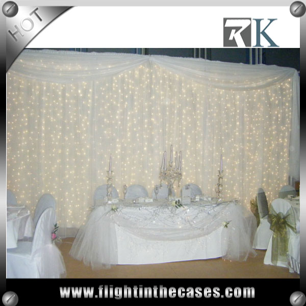 RK pipe and drape stands wedding decoration stage backdrops white