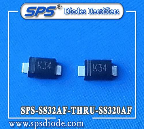 SPS 3A 20V-200V SKY SMD Diodes SS32AF SS33AF SS34AF SS36AF SS38AF SS310AF SS315AF SS320AF SMAFL Pack