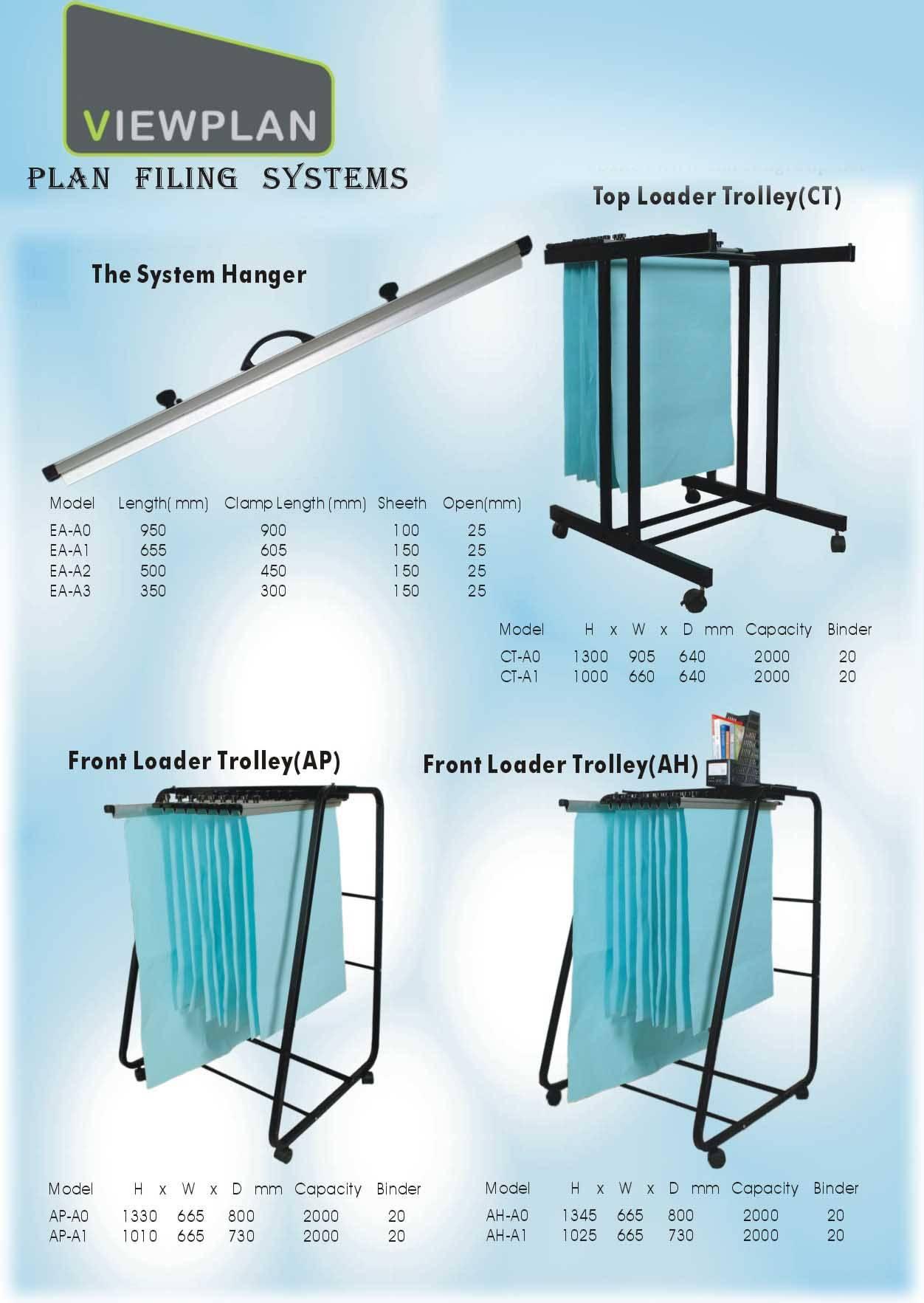 A0 Plan Hanger Plan Trolley Plan Filing system