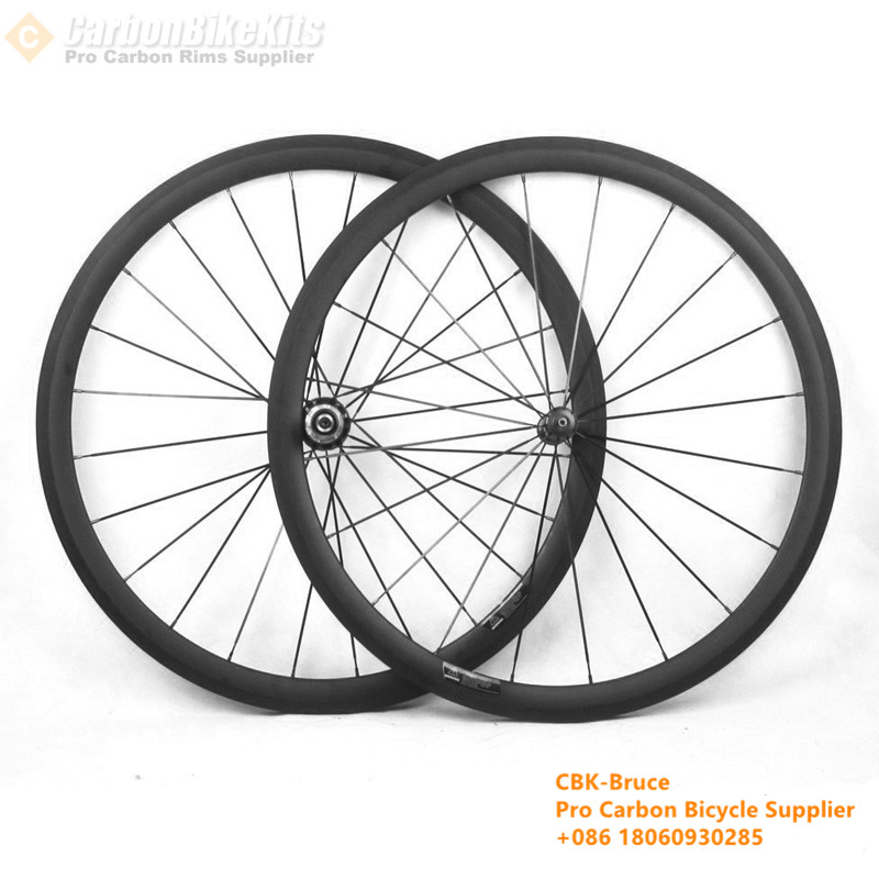 SR38C 38mm Pro Road Bicycle Carbon Clincher Wheelset With Carbon Straight Pull Hubs