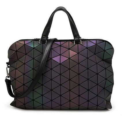 2017 Women Bucket Bag Geometry Sequins Mirror Saser Plain Folding Shoulder Bags