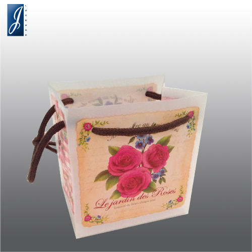 Currency small rose plastic gift bag