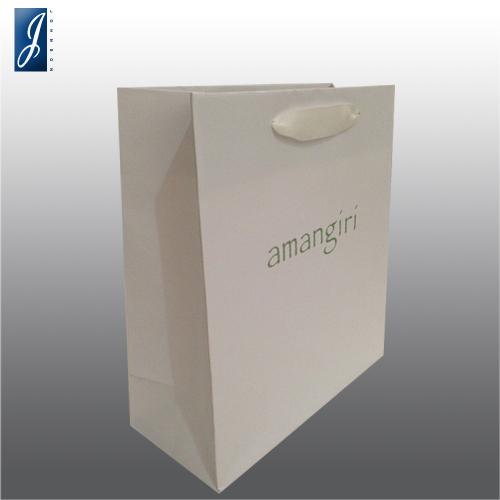 Customized medium promotional paper bag for AMANGIRI