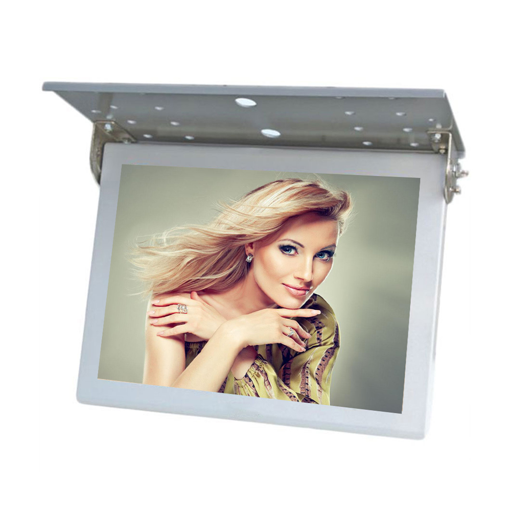 Best Price 15'' 17'' 19'' Flip Down Bus 24V Fixed LCD TV/Player with 3G/HDMI/USB Input