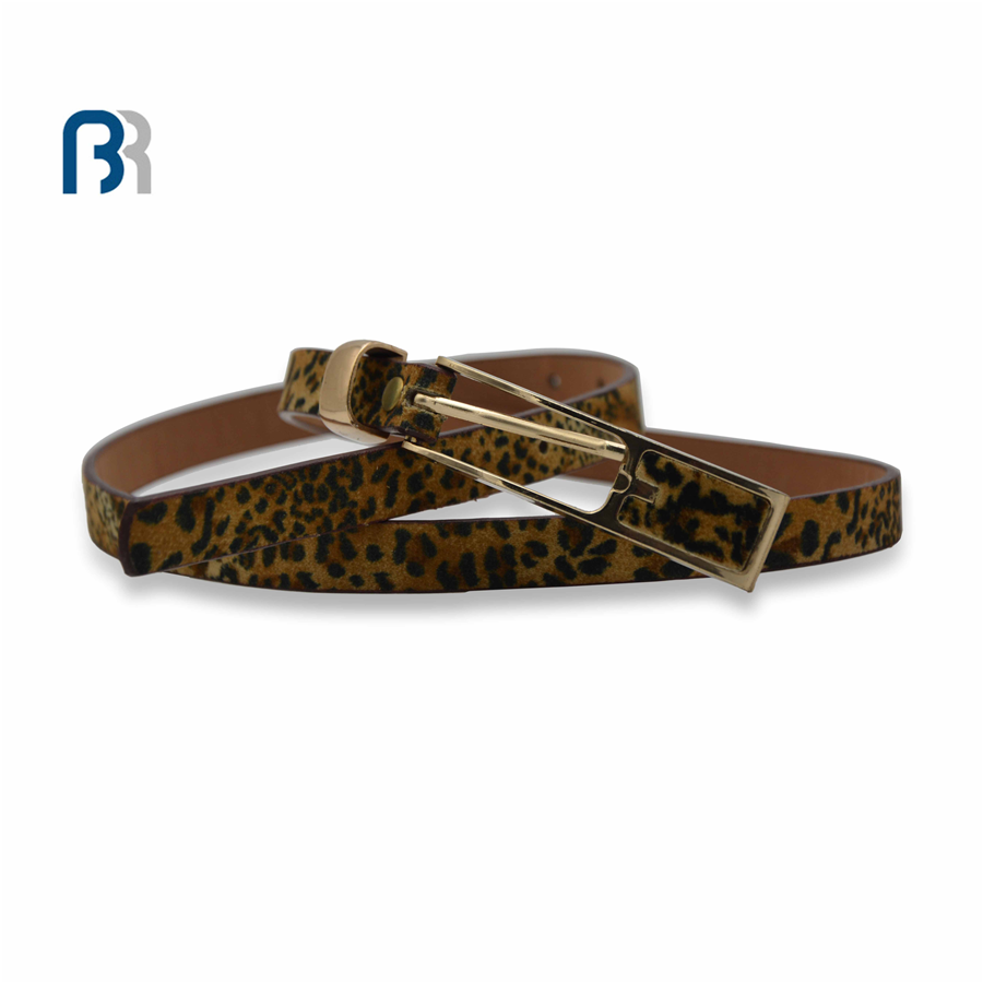 Ladies Haircloth Leopard Print Belt
