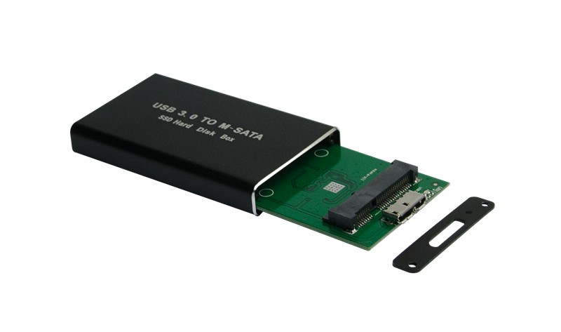 Factory direct supply SSD box usb3.0 to msata external hard disk case