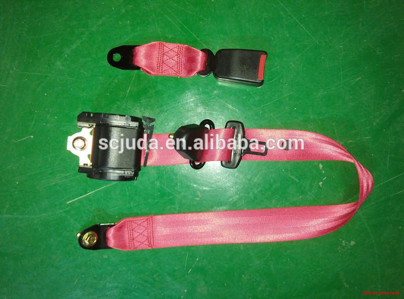 retractor 3 points car seat belt&red car seat belt