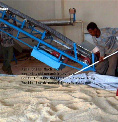 low consumption low price sesame seed hulling machine
