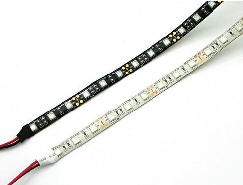 Black/White PCB SMD5050 IP65 Waterproof Orange LED strip DC12V 60LED/M