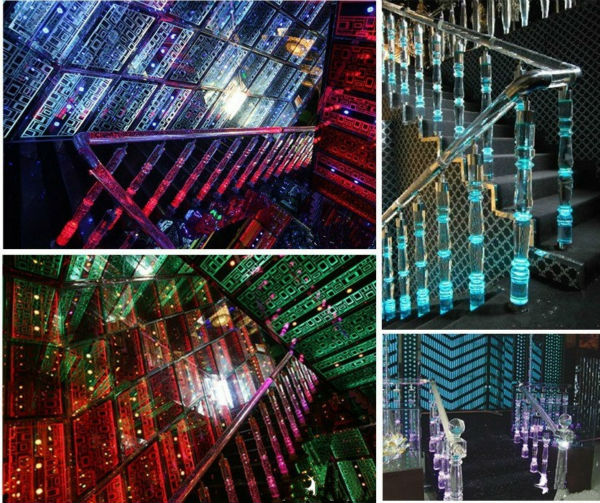 crystal glass material k9 k5 acrylic stair railing,indoor decorative railing