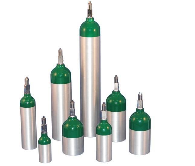 Portable Medical Aluminum Oxygen Tanks W/Valves