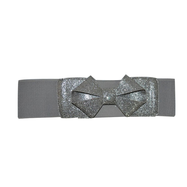 Designer Elastic Belt with Bowknot [JB17048-1-EB]