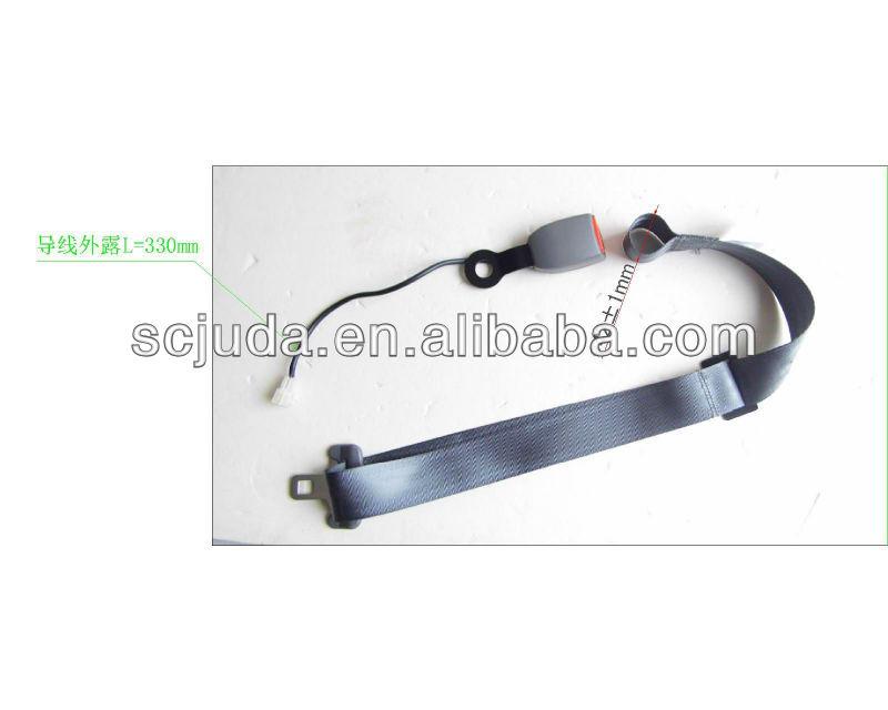 Amusement simple 2 points seat belt with sensor