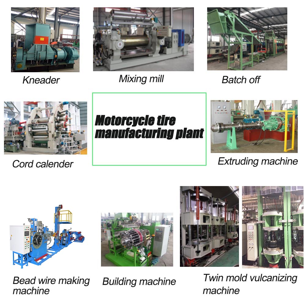 Motorcycle tire plant machinery