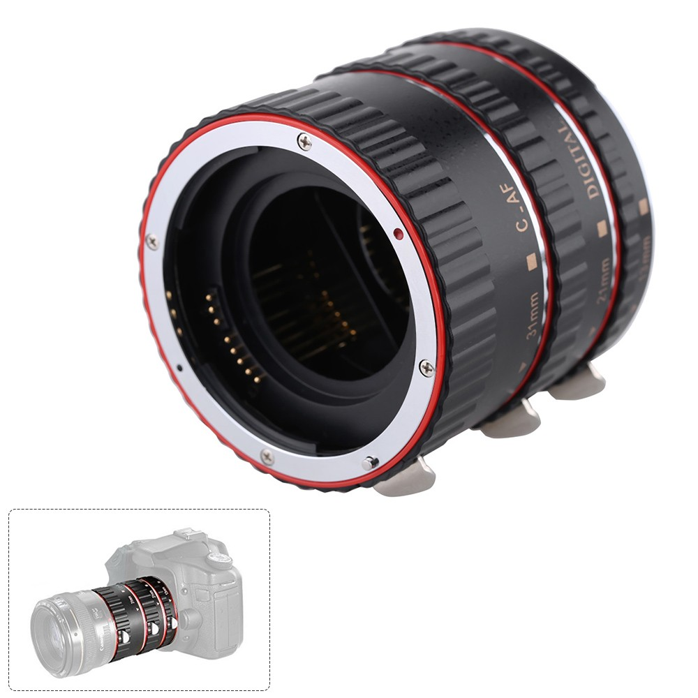 Macro Automatic Auto Focus AF Electronic TTL Extension Adapter Tube Set Shots Photography for Canon