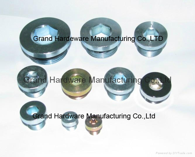 SAE hex socket steel plug