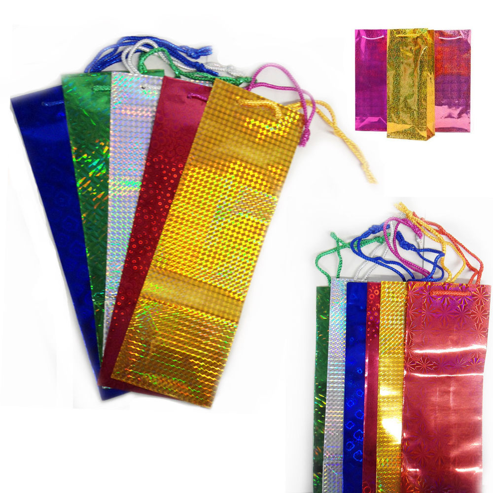 Free Sample Holographic Colour Gift Present Paper Bags