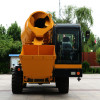 drum rotation self loading concrete mixer truck