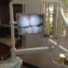 Intraoral camera with monitor and mount arm