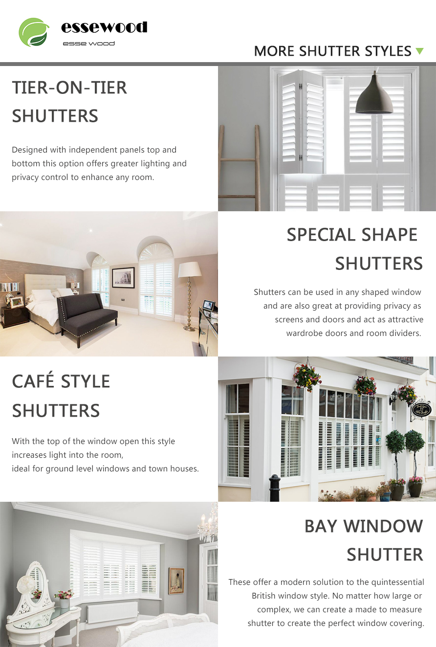 Water Proof Painted Pvc Plantation Shutters Window Shutter