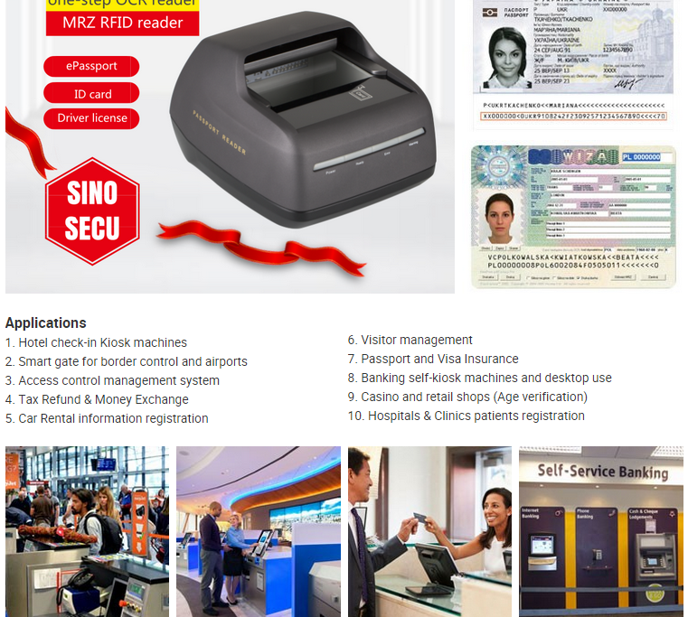 Hotel/Hospitality Desktop Full Page Ocr Passport Reader