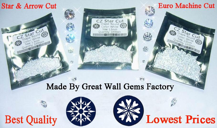 Great Wall Gems Factory (cubic zirconia heart & arrow cut, CZ star cut) Main Image