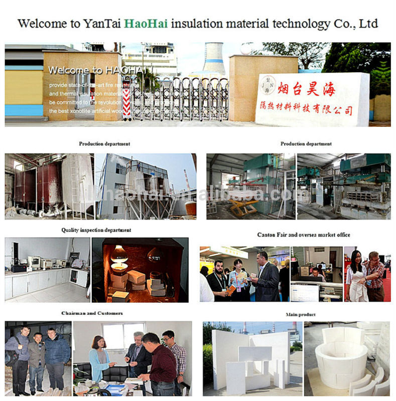 Yantai Haohai Insulation material Co ,Ltd  - calcium silicate board