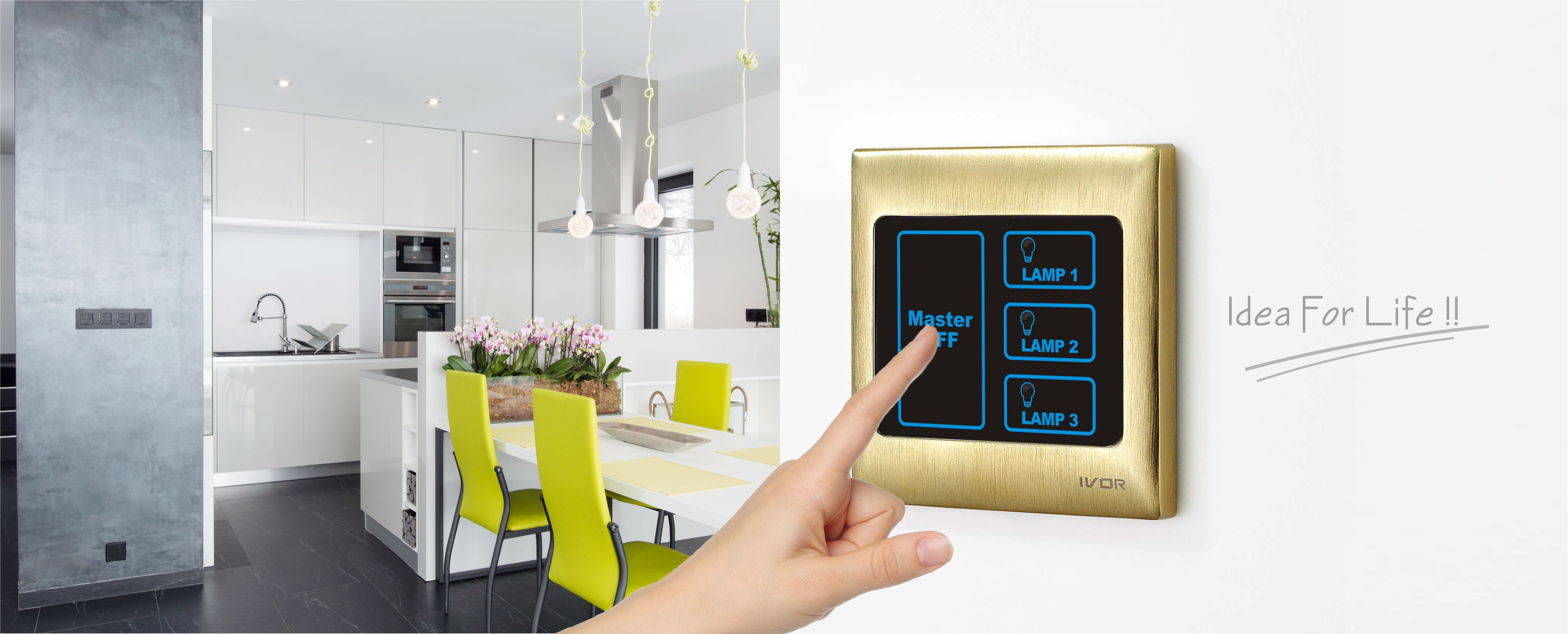 Ivor Intelligent Electrical Appliance Coltd Light Switch Touch Electronic Lock Main Image