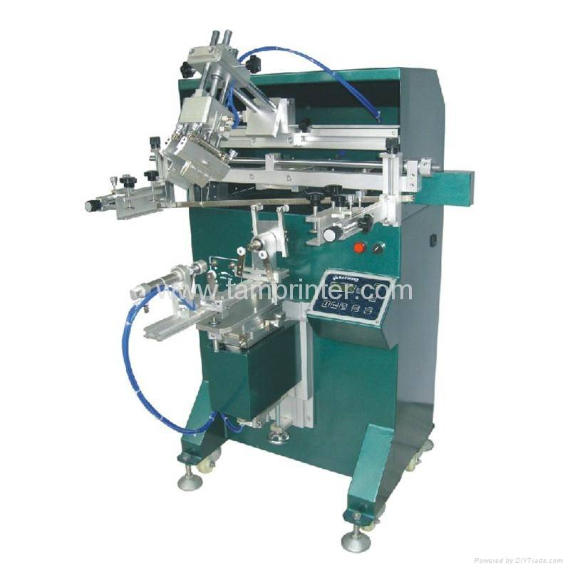 TM-300E 95MM Pneumatic bottle screen printing machine
