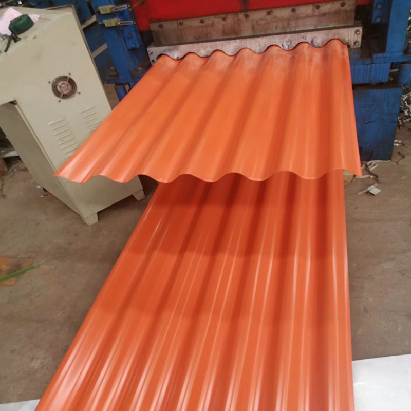 Embossed Color Coated Corrugated Steel Roof Sheet with Factory Price