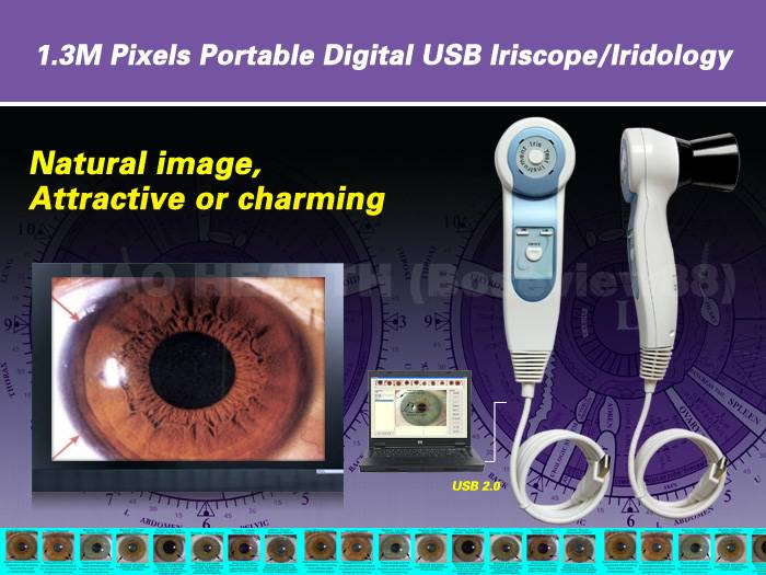 NEW 1.3MP Pro Single/Dual lamp control Iriscope / Iridology / iridoscopes