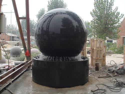Marble wall floating ball fountain