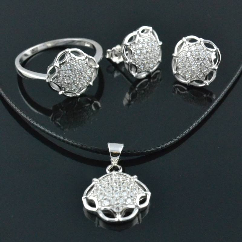 Customized 925 Silver Jewelry Sets 925 Silver Rings
