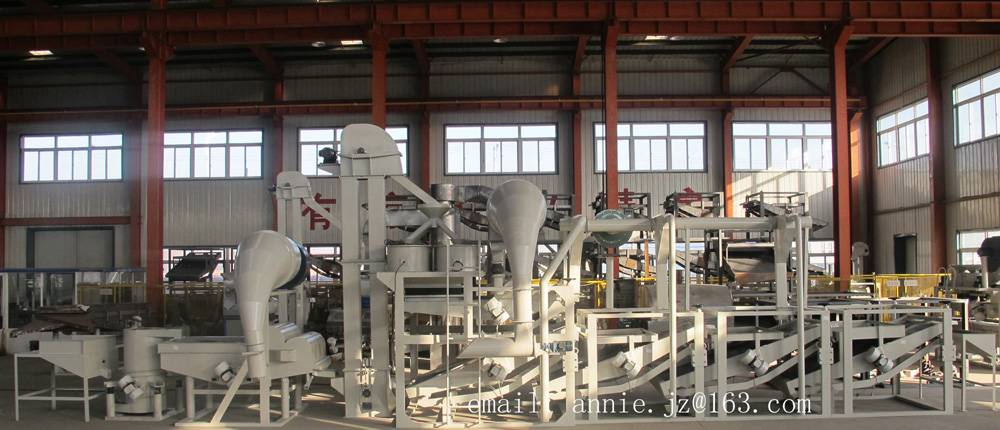Advanced sunflower seed hulling line, dehulling line