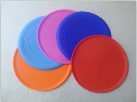 Dog Colorful Funny Soft Silicone Flying Disk / Frisbee