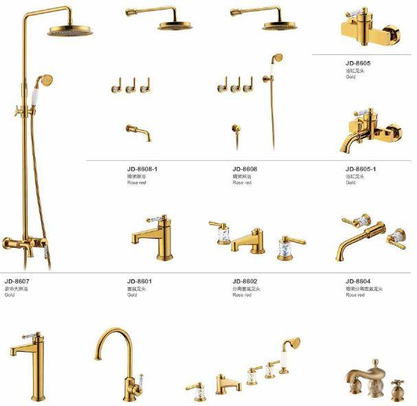 gold surface treament faucet mixer tap tapware