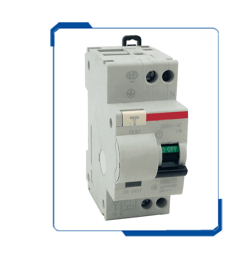 DS941 rccb rcbo elcb circuit breaker with overload protection
