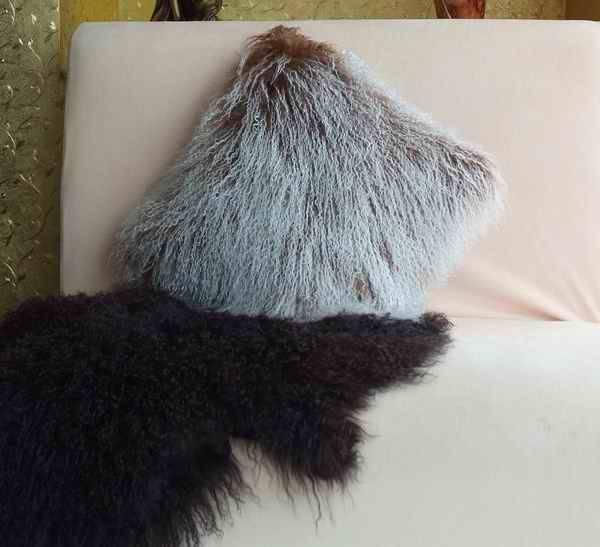 tibet lamb fur cushion