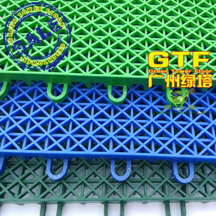 Suspended interlock sports flooring ,